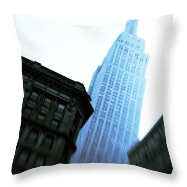 Empire State Building Throw Pillow by Dave Bowman