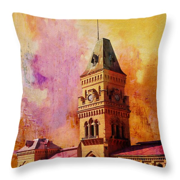 Empress Market Throw Pillow by Catf