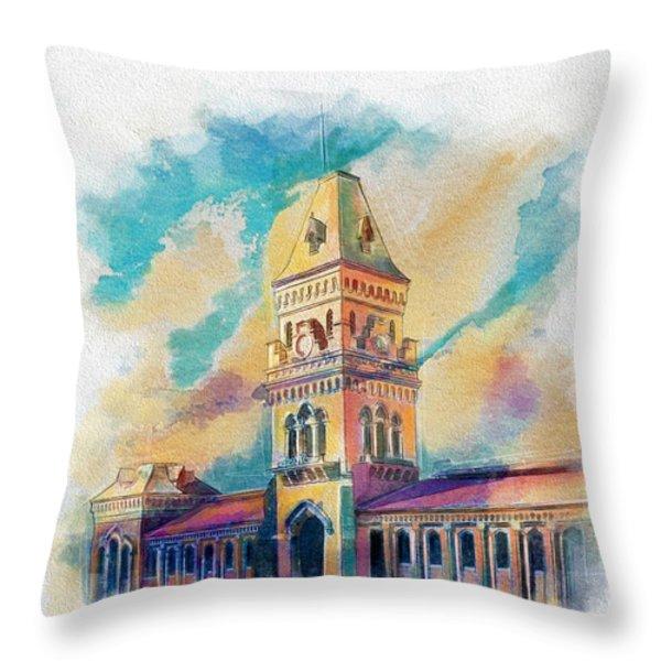 Empress Market Karachi Throw Pillow by Catf