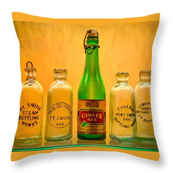 Empties Throw Pillow by James Barber