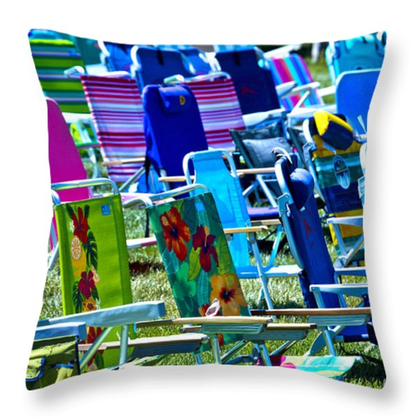 Empty Chairs Throw Pillow by Garry Gay