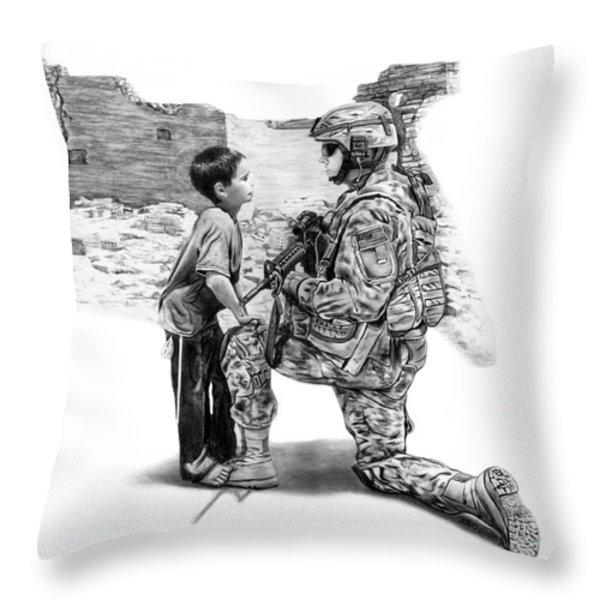 Empty Pockets  Throw Pillow by Peter Piatt