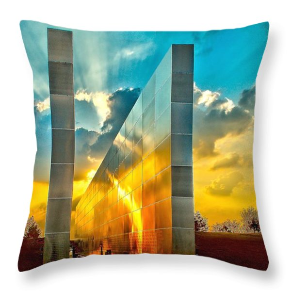 Empty Skies Sunset Throw Pillow by Nick Zelinsky