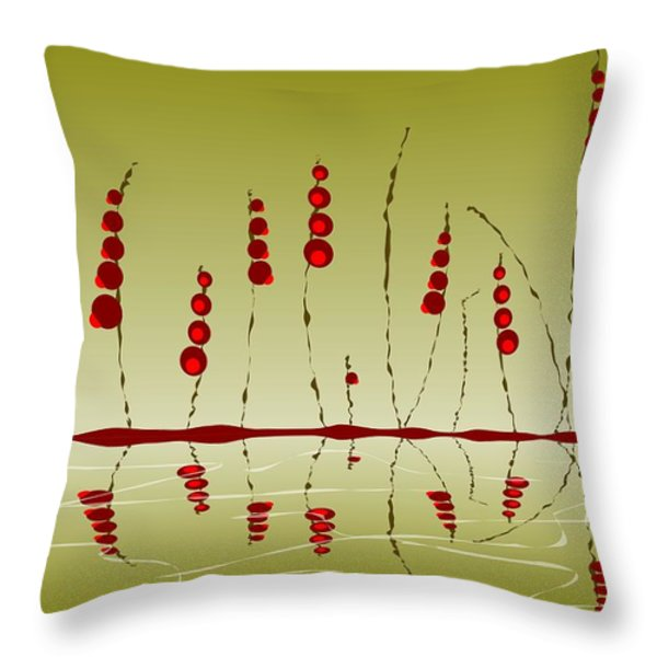 Enchanted Berries Throw Pillow by Anastasiya Malakhova