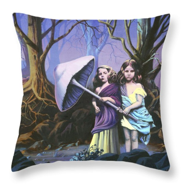 Enchanted Forest Throw Pillow by Vivien Rhyan