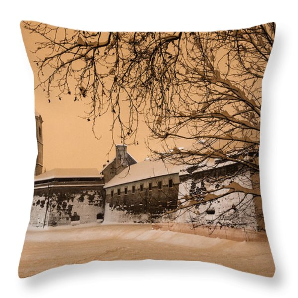 Enchanted Old Town Throw Pillow by Davorin Mance
