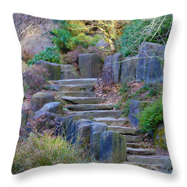 Enchanted Stairway Throw Pillow by Athena Mckinzie