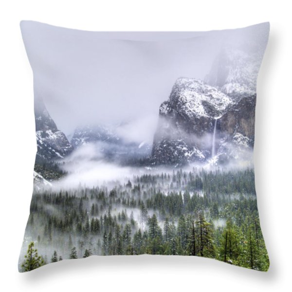Enchanted Valley Throw Pillow by Bill Gallagher