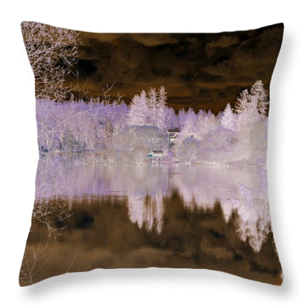 Enchanted Wood Throw Pillow by Ana Lusi
