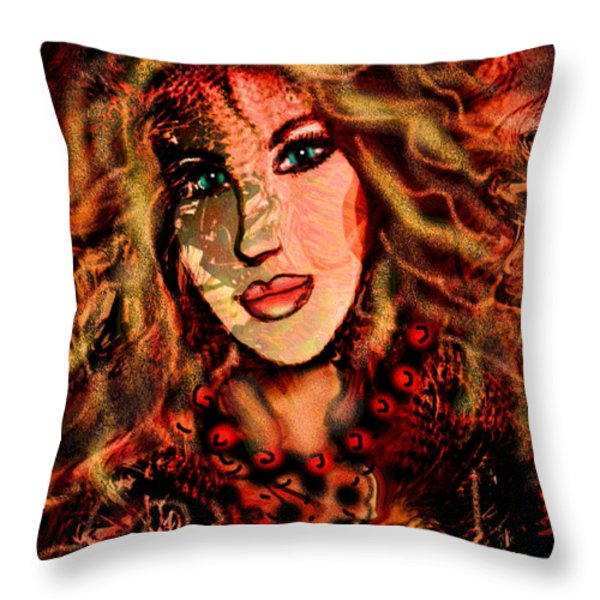 Enchanting Woman Throw Pillow by Natalie Holland