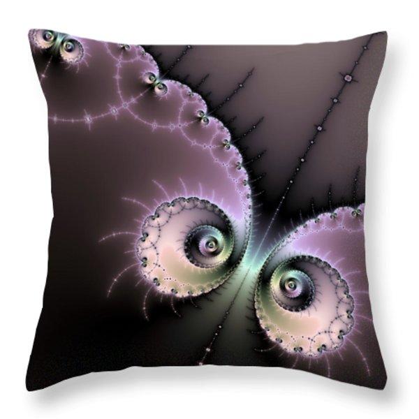 Encounter - Digital Fractal Artwork Throw Pillow by Matthias Hauser