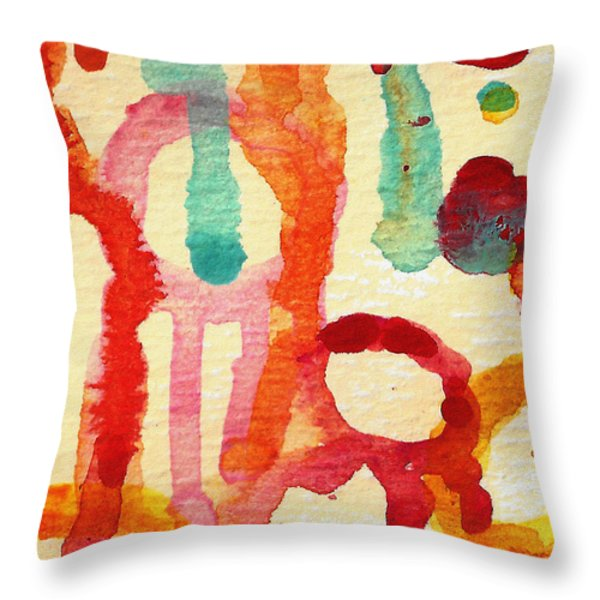 Encounters 5 Throw Pillow by Amy Vangsgard