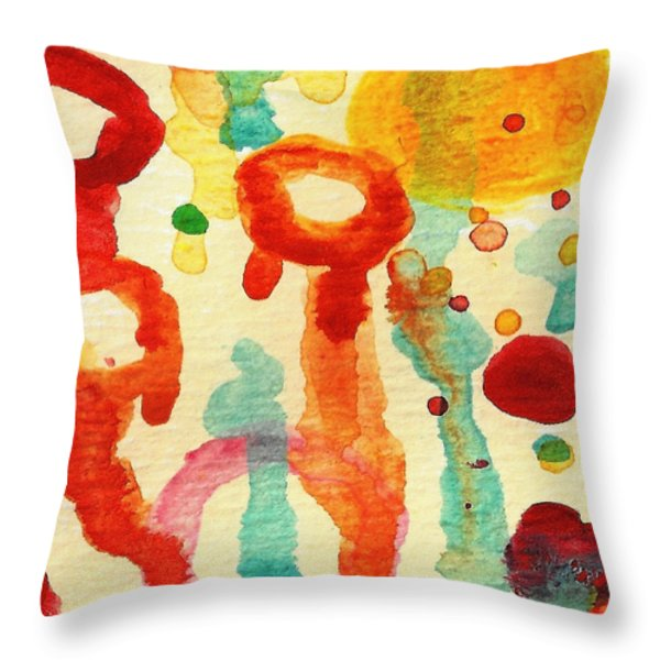 Encounters 7 Throw Pillow by Amy Vangsgard