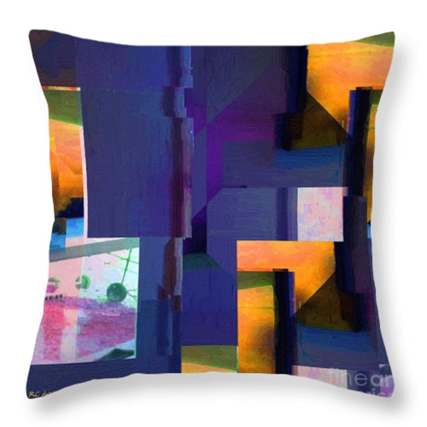 Encroachment Throw Pillow by RC DeWinter