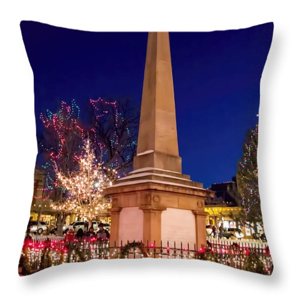 End Of The Trail Throw Pillow by Jon Burch Photography