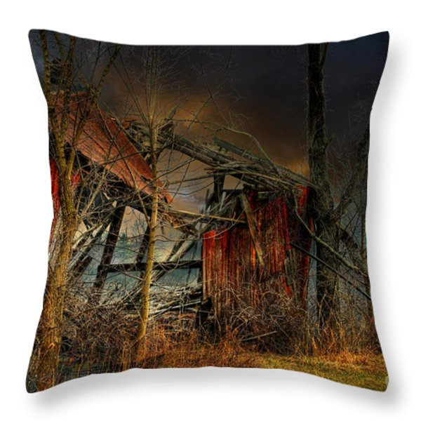 End Times Throw Pillow by Lois Bryan