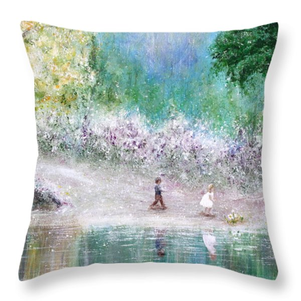 Endless Day Throw Pillow by Kume Bryant
