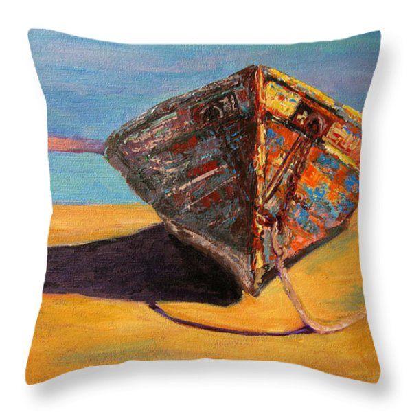 Endurance Throw Pillow by Patricia Awapara