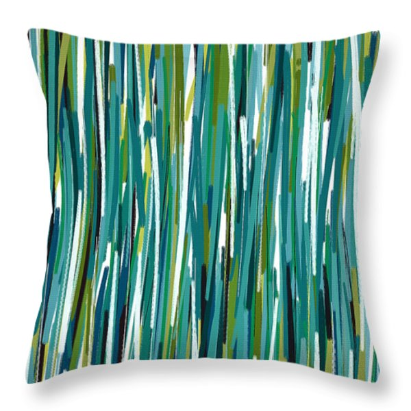 Energy Rises Throw Pillow by Lourry Legarde