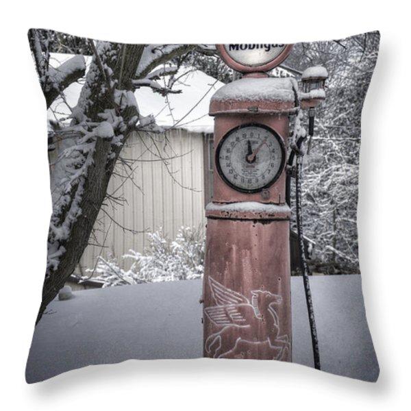 Energy Shortage Throw Pillow by Joan Carroll