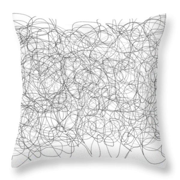 Energy Vortex Throw Pillow by Daina White