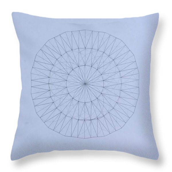 Energy Wave 20 Degree Frequency Throw Pillow by Jason Padgett
