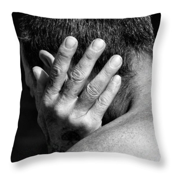 Enfolding Throw Pillow by Rory Sagner