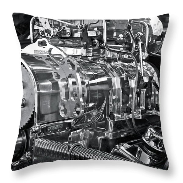 Engine Envy Throw Pillow by Linda Bianic