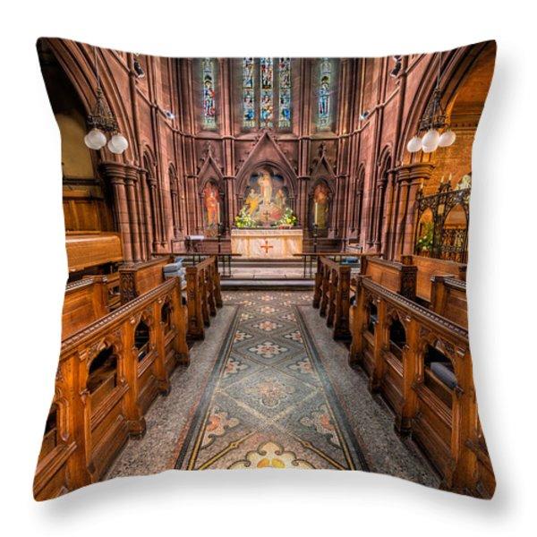 English Church 2 Throw Pillow by Adrian Evans
