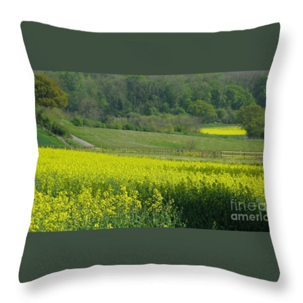 English Countryside Throw Pillow by Ann Horn