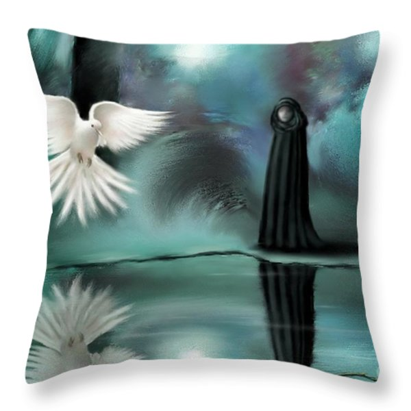Enigma Throw Pillow by Susi Galloway