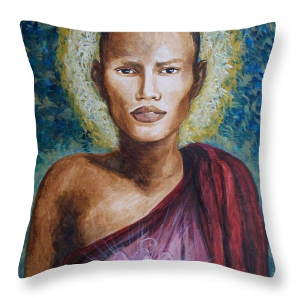 Enlightenment Throw Pillow by Amber Stanford
