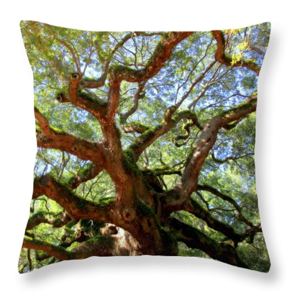 Entangled Beauty Throw Pillow by Karen Wiles