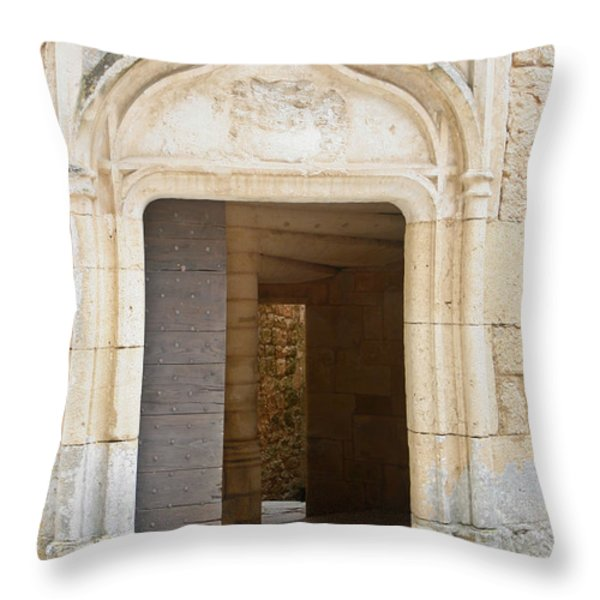 Enter the castle door Throw Pillow by Nomad Art And  Design