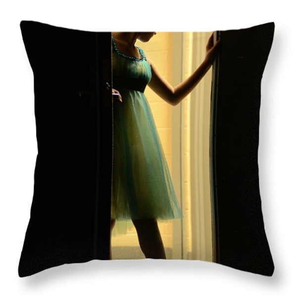 enter upon this stage Throw Pillow by Laura  Fasulo