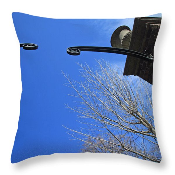 Going To Dumbarton House Throw Pillow by Cora Wandel