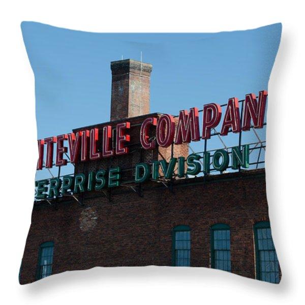 Enterprise Mill Throw Pillow by Ed Waldrop