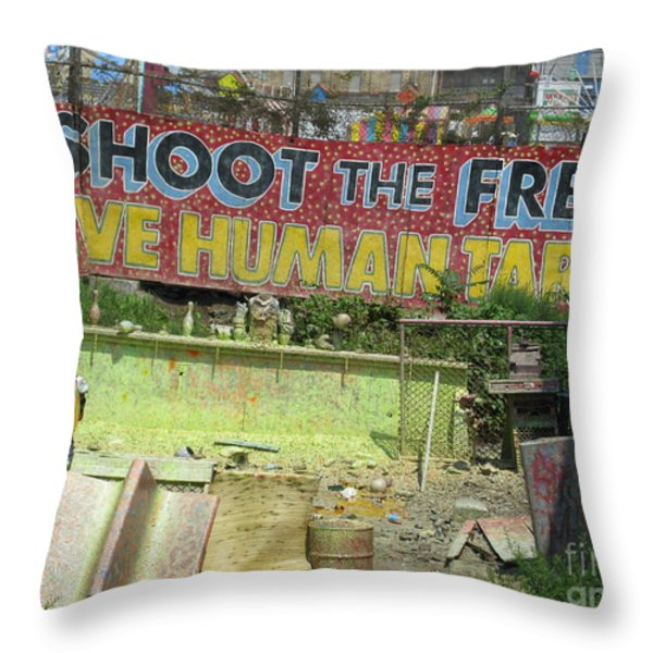 Entertainment In New York Throw Pillow by Ausra Paulauskaite