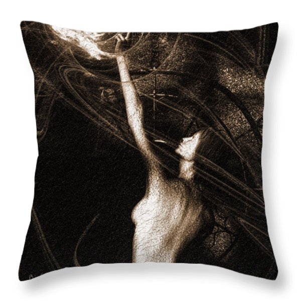 Entities Touch Throw Pillow by Bob Orsillo