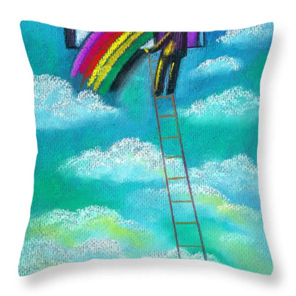 Entrepreneur Throw Pillow by Leon Zernitsky
