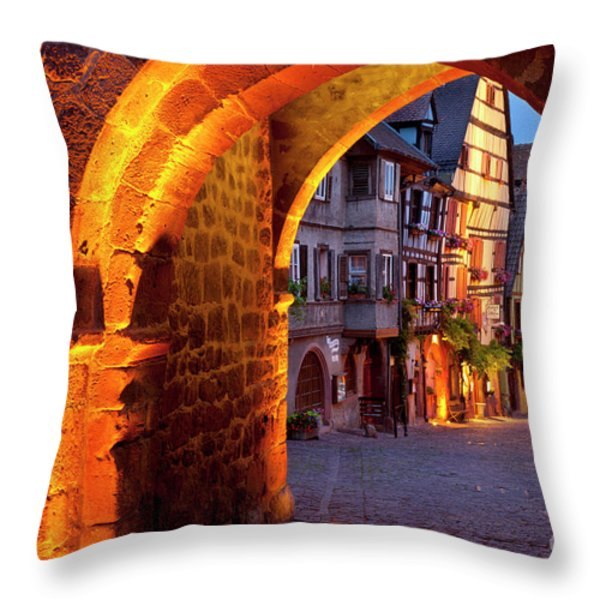 Entry to Riquewihr Throw Pillow by Brian Jannsen