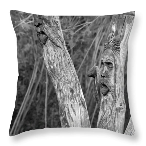 Ents 2 monochrome Throw Pillow by Steve Harrington