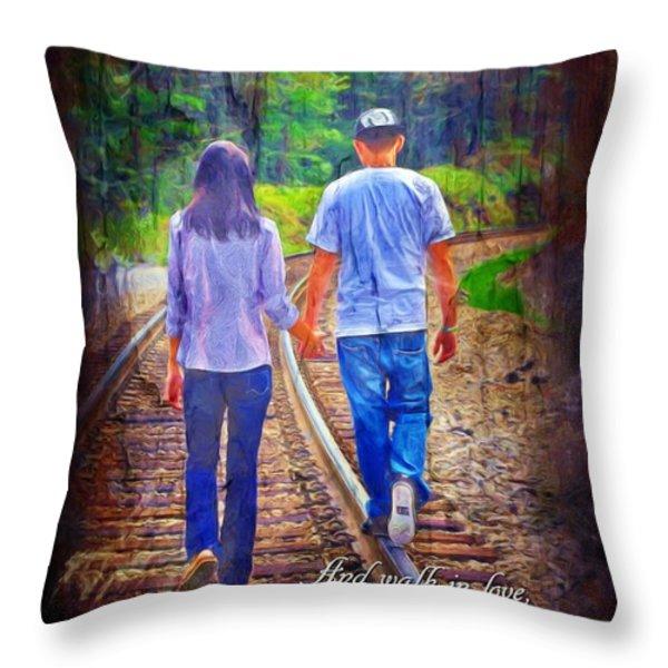 Ephesians 5 2 Throw Pillow by Michelle Greene Wheeler