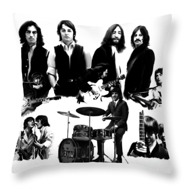 Epic   The Beatles Throw Pillow by Iconic Images Art Gallery David Pucciarelli