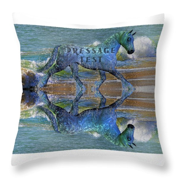 Epona Equine Dressage Test  Throw Pillow by Betsy A  Cutler