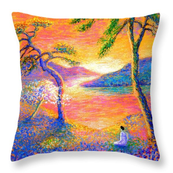 Divine Light Throw Pillow by Jane Small