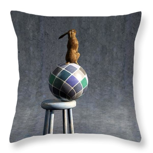 Equilibrium II Throw Pillow by Cynthia Decker