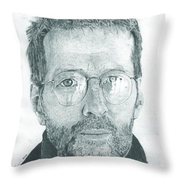 Eric Clapton Throw Pillow by Jeff Ridlen