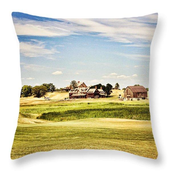 Erin Hills Throw Pillow by Scott Pellegrin