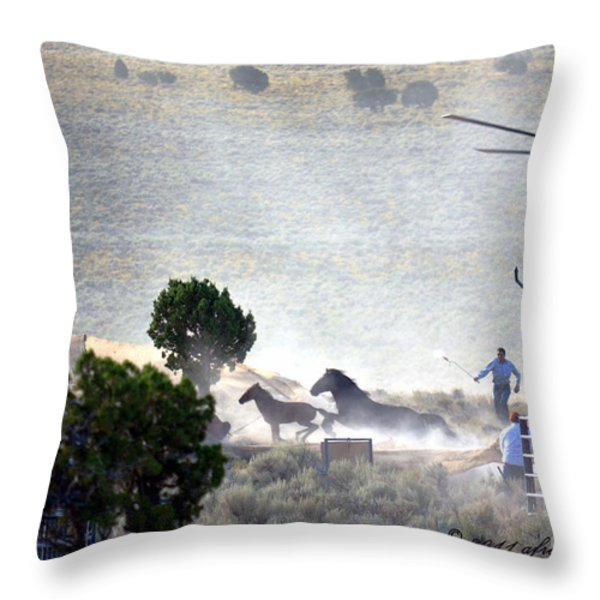 Escape From Butte Valley Trapsite Triple B Throw Pillow by Afroditi Katsikis